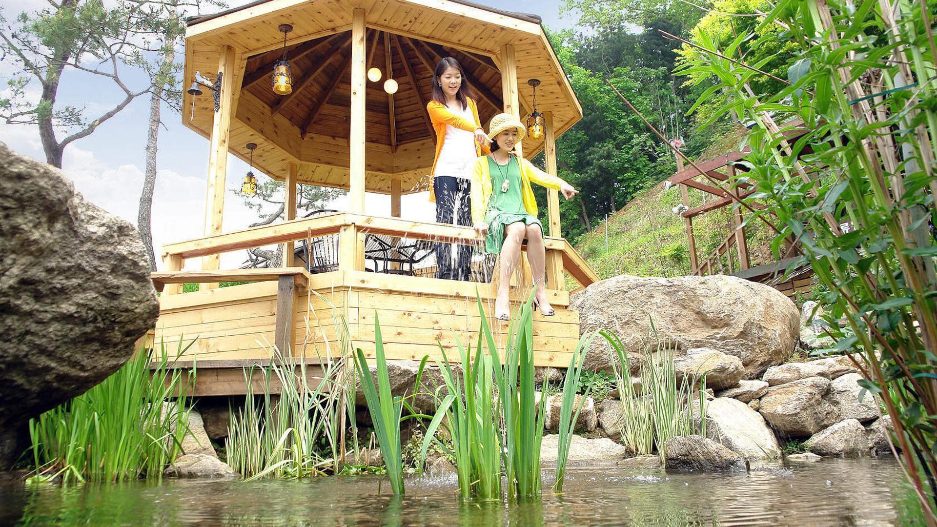 야생화' 연못' 미니계곡